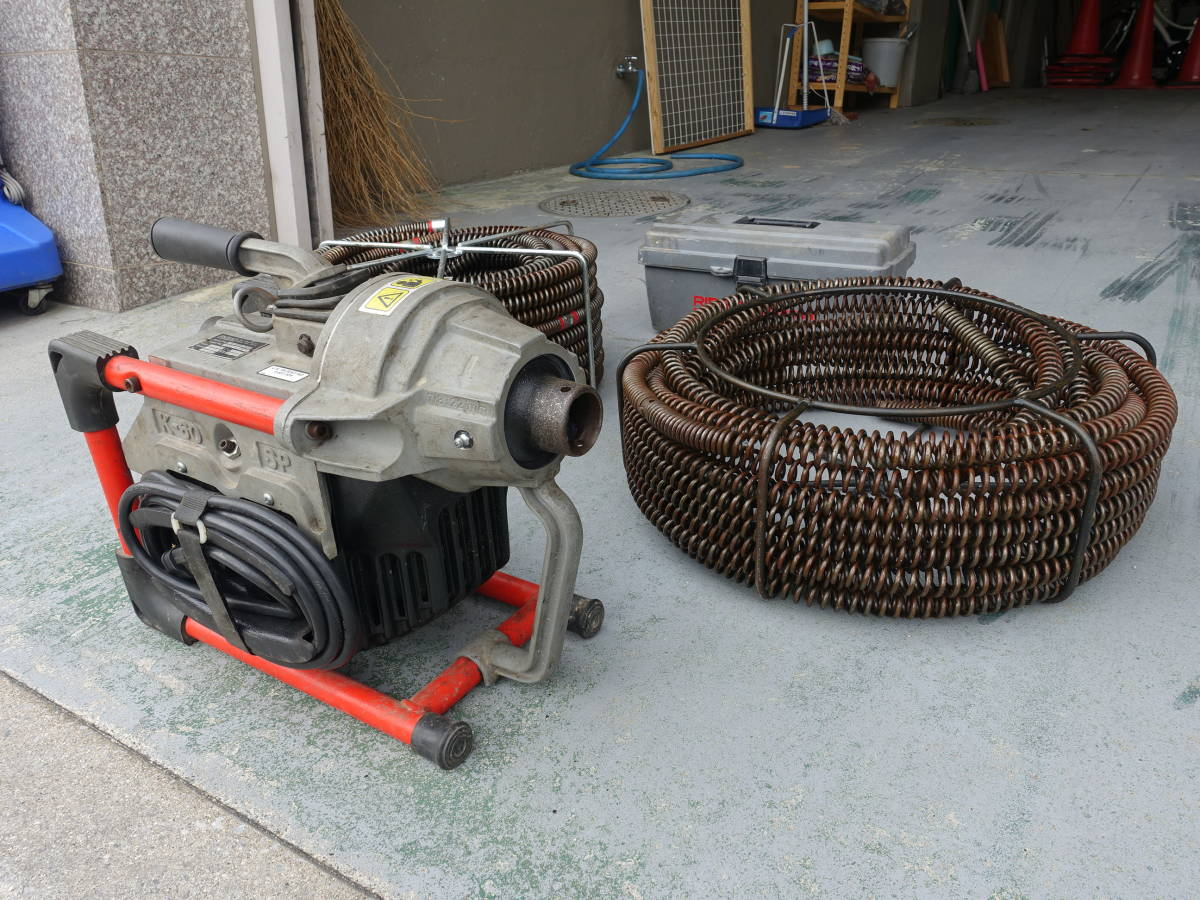 整備済 リジッド RIDGID K-60SP 排水管掃除機 トーラー ドレンクリーナー スネークワイヤー 管清掃や高圧洗浄機作業の排水つまり修理に