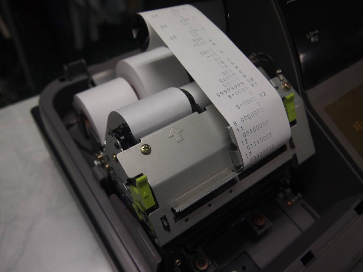 シャープ 普通紙2レシート対応レジスタ「XE-A235S 」 レジ機能OK!ジャンク品(引き出しに不具合あり)_画像3