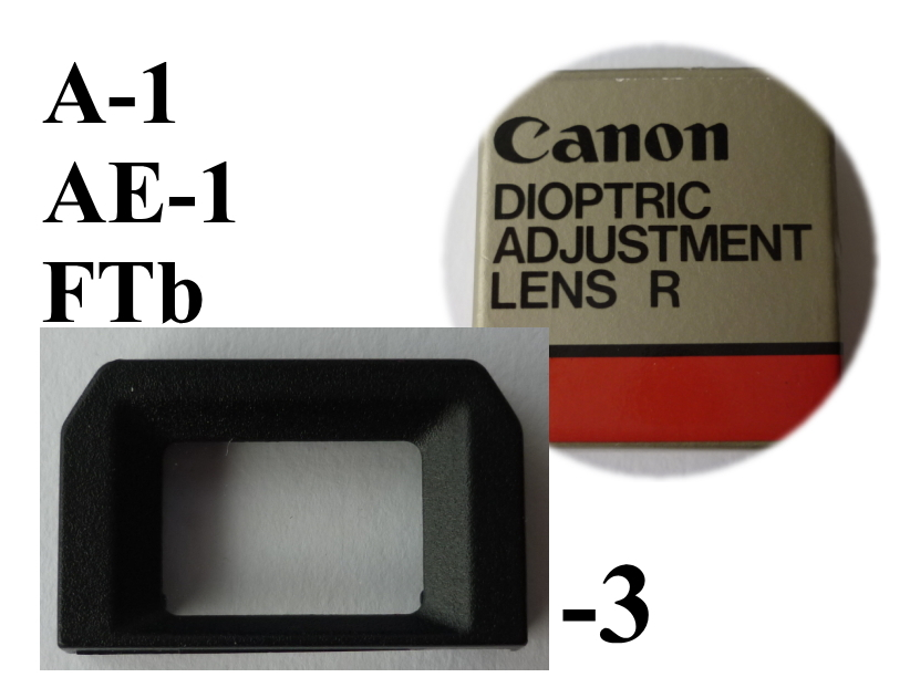 即決美品 キヤノン 視度補正レンズ -3 近視用 アイピース Canon A-1 AE-1 FTb  定形外 クリックポスト可(593)