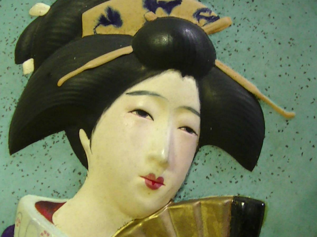 日本美人 壁掛け 裏はエッチな絵直径17.8cmx厚み1.1cm_画像3