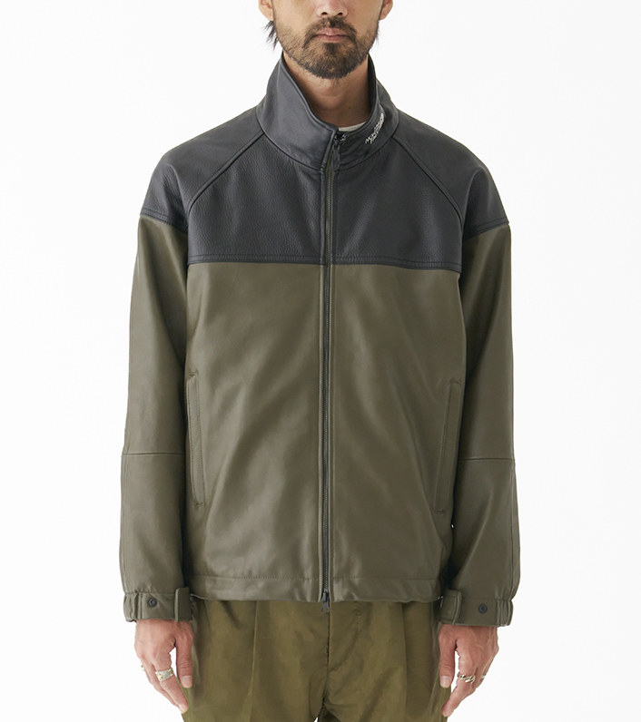 nanamica/THE NORTH FACE PURPLE LABEL Field Leather Jacket NP2900N DN(ダークネイビー)/L 新品未使用 正規品 完売店続出! ※タグ付_画像8