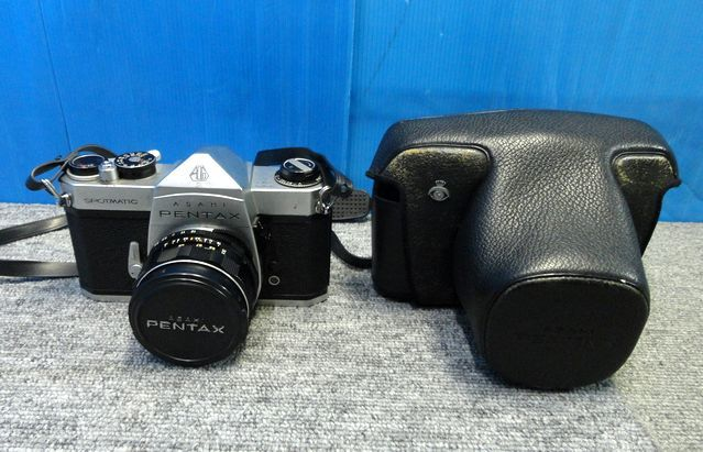 【YU564】ASAHI アサヒ PENTAX ペンタックス フィルム一眼レフカメラ SPOTMATIC SP TAKUMAR F3.5/35mm マニュアルフォーカス レトロ 写真 _画像1