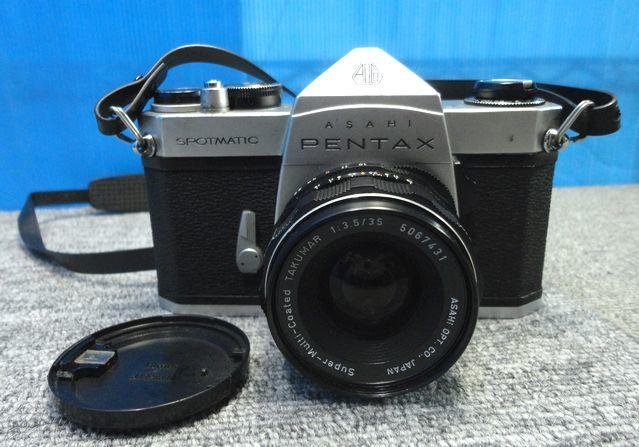 【YU564】ASAHI アサヒ PENTAX ペンタックス フィルム一眼レフカメラ SPOTMATIC SP TAKUMAR F3.5/35mm マニュアルフォーカス レトロ 写真 _画像2