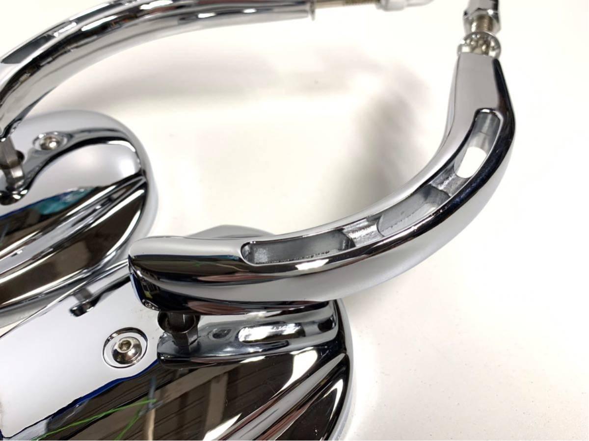 バブルミラー ハーレー用 クローム USミラー ( ツーリング ダイナ ソフテイル ロードキング XL FL FX CVO RSD PM ) 特売 数量限定 無料 3_画像4