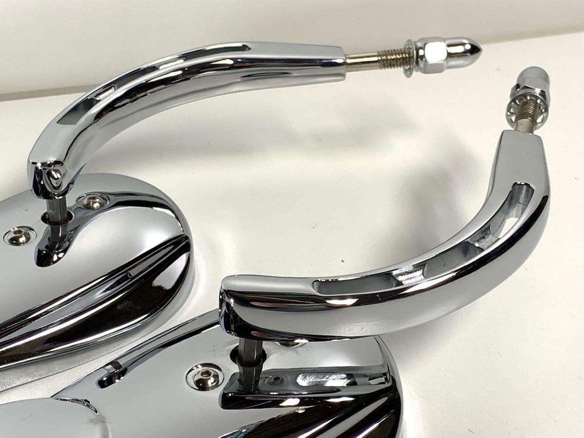 バブルミラー ハーレー用 クローム USミラー ( ツーリング ダイナ ソフテイル ロードキング XL FL FX CVO RSD PM ) 特売 数量限定 無料 4_画像9