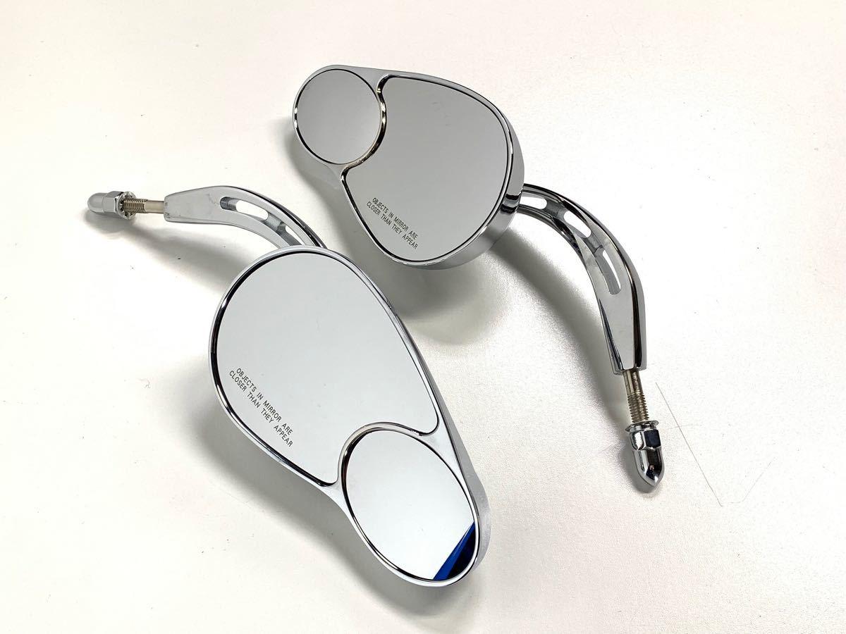 バブルミラー ハーレー用 クローム USミラー ( ツーリング ダイナ ソフテイル ロードキング XL FL FX CVO RSD PM ) 特売 数量限定 無料 4_画像8