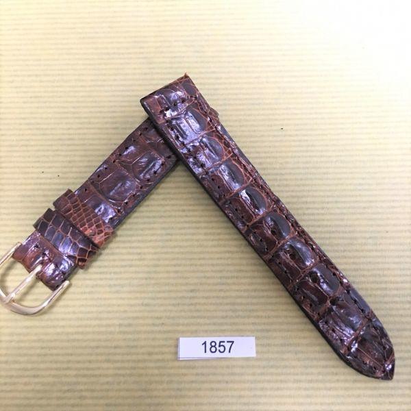 1円~|1857|ラグ幅18mm|クロコダイル|ワニ革|バネ棒おまけ|時計ベルト|売切り|処分_画像2