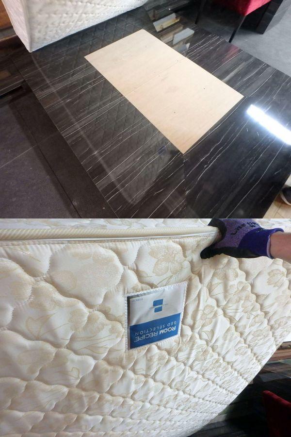 MH190316-1 展示品 造作家具 ベットマット フレーム 化粧台 セット ローベッド マット:ROOM RECIPE_画像4