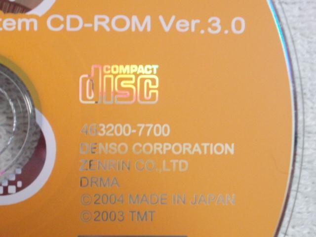 ホンダ純正 CD-ROM CDロム DVDロム DVD-ROM ナビディスク プログラムディスク Gathers ギャザーズ Ver.3.0 463200-7700 2004年 西日本向_画像2