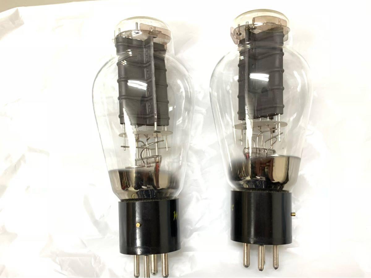 [▲ジャンク扱い 真空管2個 綺麗]Western Electric 300B_画像4