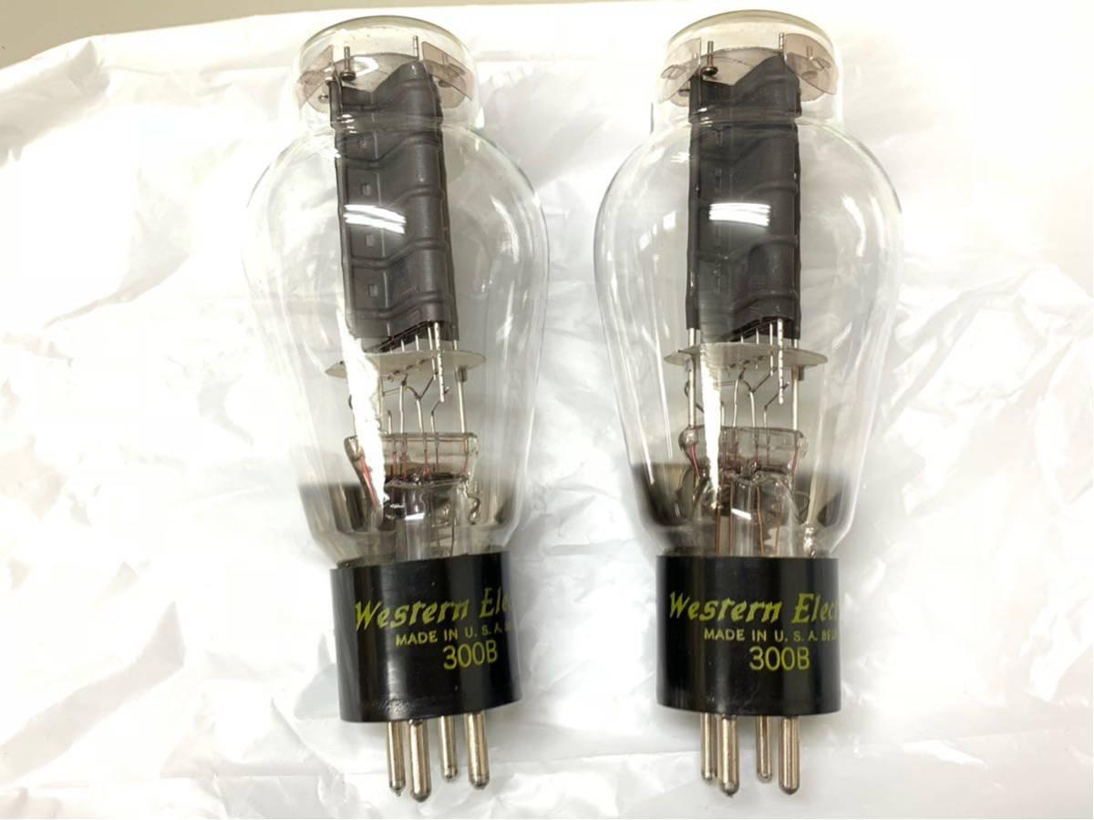 [▲ジャンク扱い 真空管2個 綺麗]Western Electric 300B_画像2