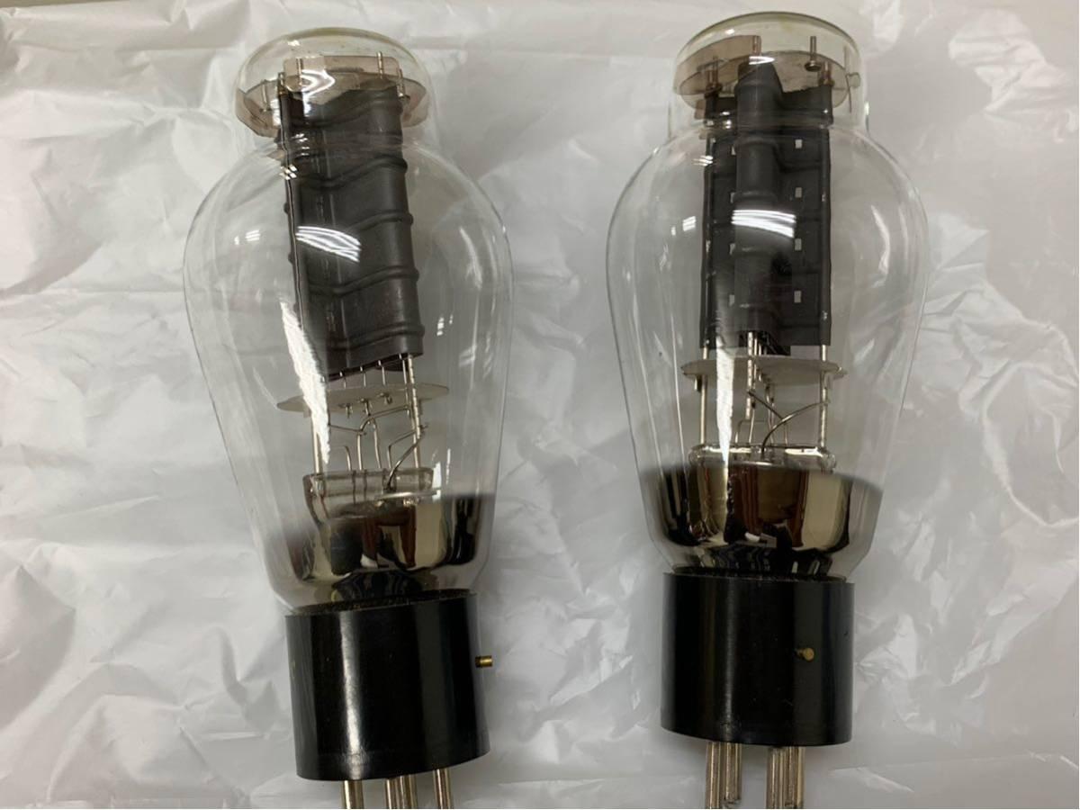 [▲ジャンク扱い 真空管2個 綺麗]Western Electric 300B_画像3