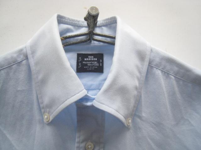 高級!!Maker's Shirt 鎌倉 鎌倉シャツ*400 MADISON SLIM FIT ボタンダウンシャツ 39-80 実寸M_画像4
