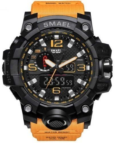 SMAEL S-SHOCK LED 高級 オレンジ「104」 デジアナ メンズ防水腕時計 Sショック 『安心国内発送・早い・送料安い』