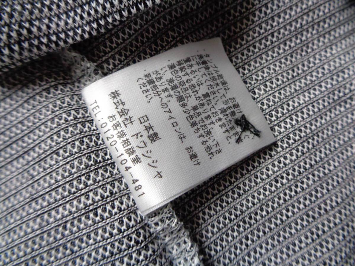 未使用 MCM エムシーエム 日本製 左胸刺繍ロゴ 鹿の子 半袖ポロシャツ L 麻混_画像6