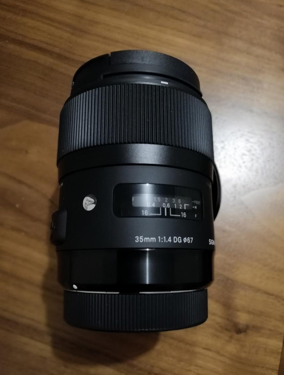 シグマ SIGMA 35mm Art F1.4 DG HSM キャノン canon EF マウント キャノン用 美品