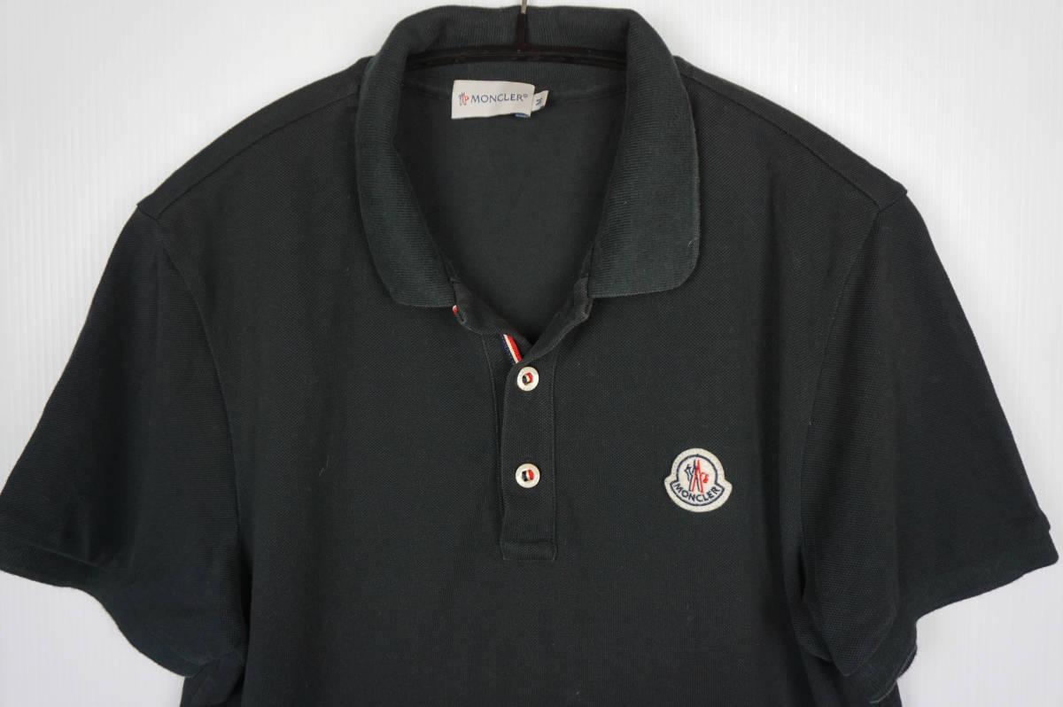 国内正規品 モンクレール/ ポロシャツ サイズM ブラック 定番モデル 送料込(管理番号JD64)_画像2