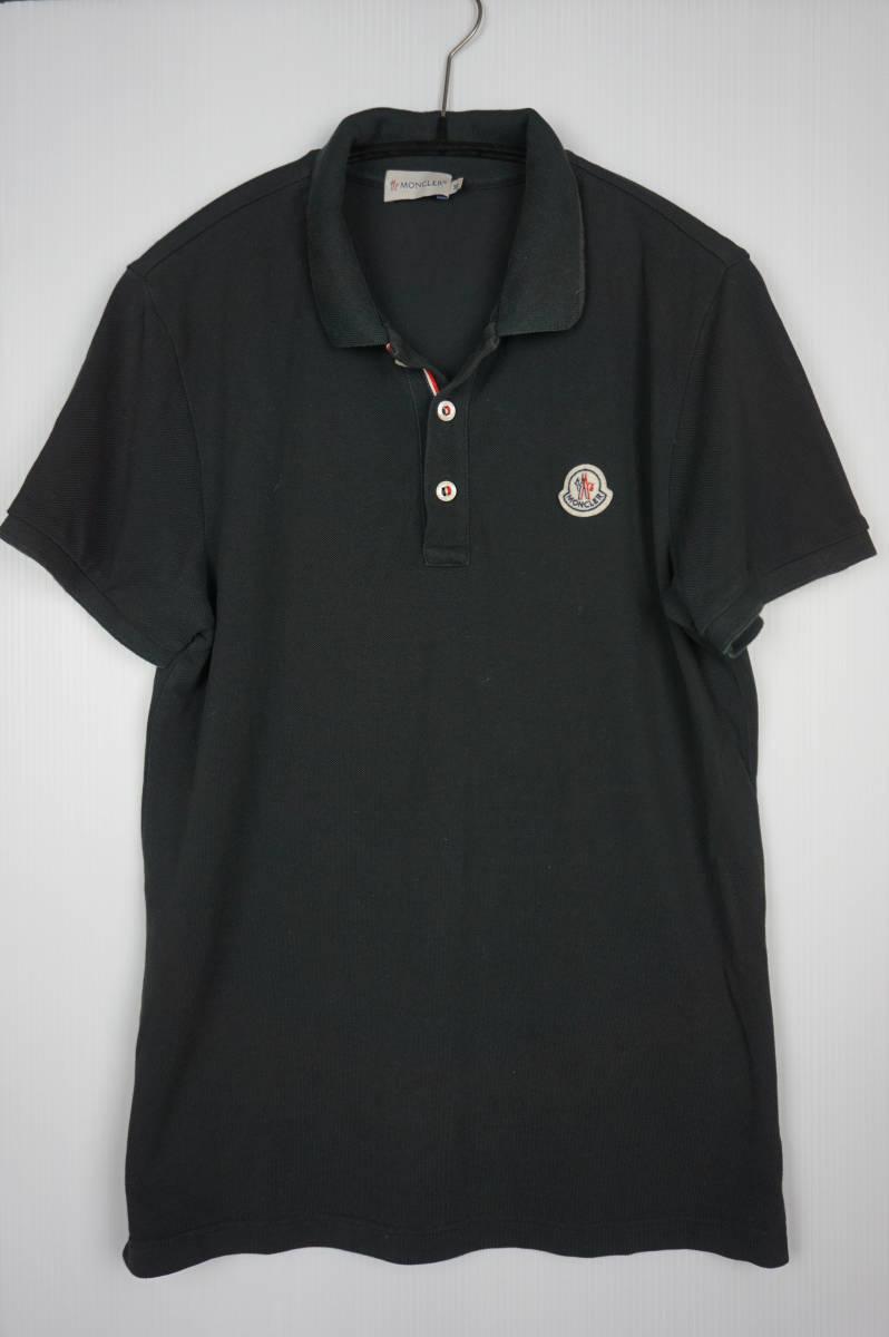 国内正規品 モンクレール/ ポロシャツ サイズM ブラック 定番モデル 送料込(管理番号JD64)