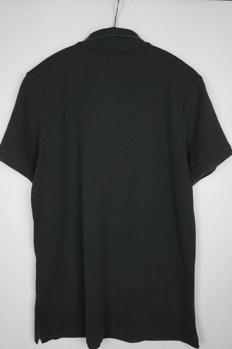 国内正規品 モンクレール/ ポロシャツ サイズM ブラック 定番モデル 送料込(管理番号JD64)_画像4