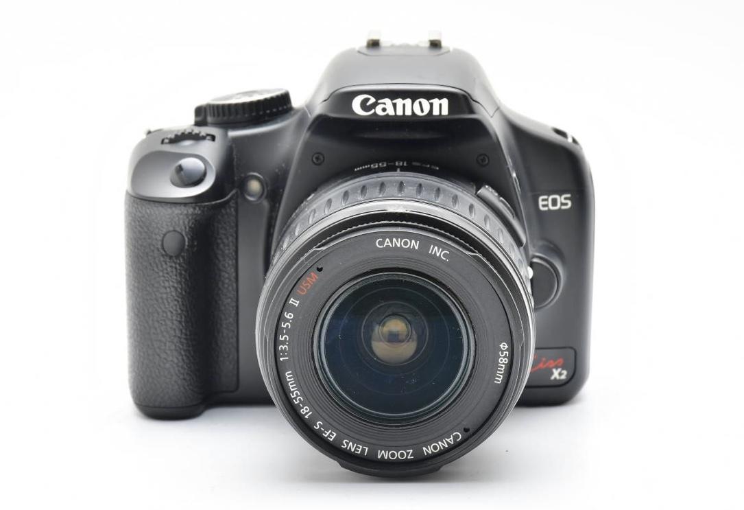 キャノン 一眼レフEOS Kiss Digital X2 +EF-S 18-55mm F3.5-5.6 II USM