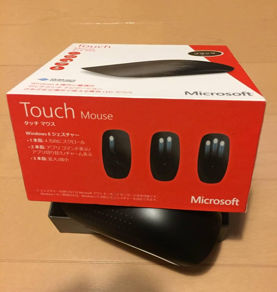 ★Microsoft Touch Mouse マイクロソフト タッチマウス 中古 ブラック ジェスチャー操作★_画像1