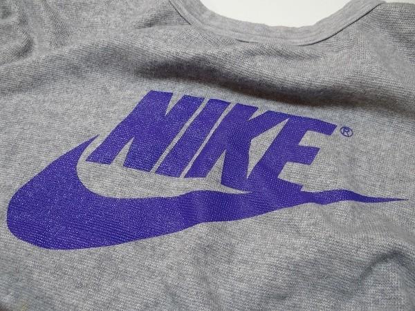 80年代 ビンテージ 日本製 NIKE ナイキ ノースリーブ スウエット 霜降り Lサイズ レトロ 当時物_画像3