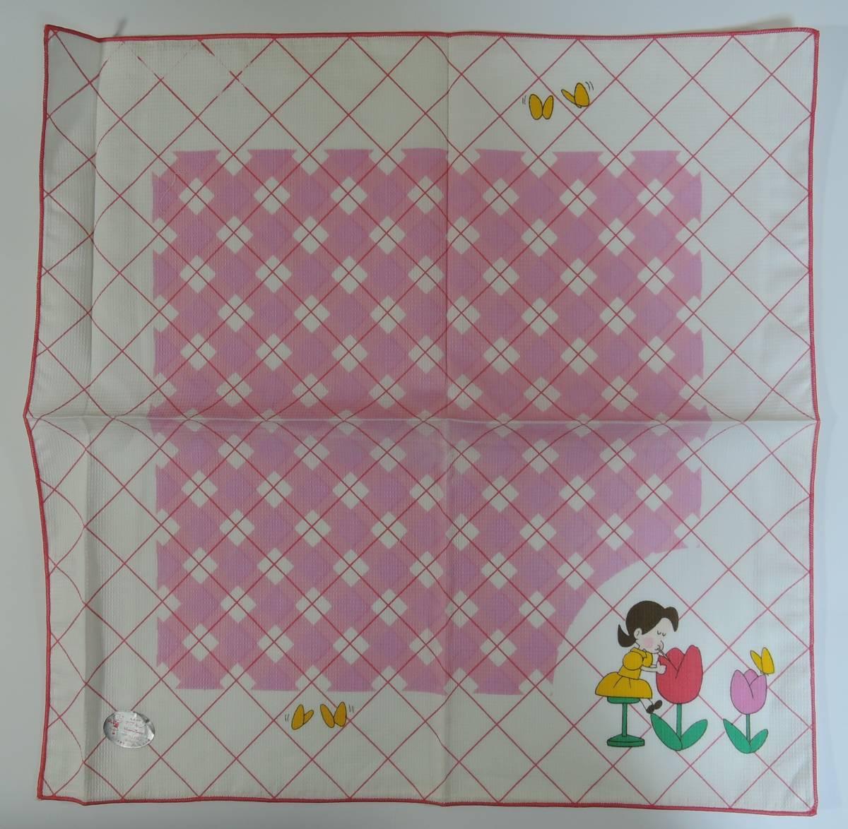 02C■小さな恋のものがたり チッチとサリー ナプキン ピンク■みつはしちかこ 未使用_画像1