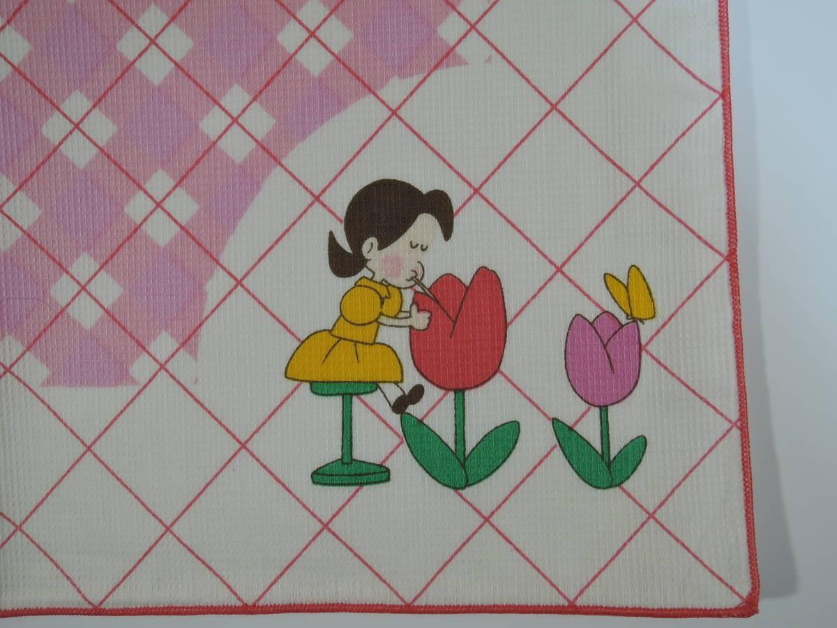 02C■小さな恋のものがたり チッチとサリー ナプキン ピンク■みつはしちかこ 未使用_画像2