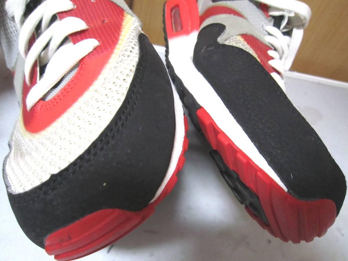 ナイキ エアマックス ライト C 1.0(631758-006)灰黒白赤 28cm US10    Nike Air Max Light C1.0  2013年製  ai1903d_画像7