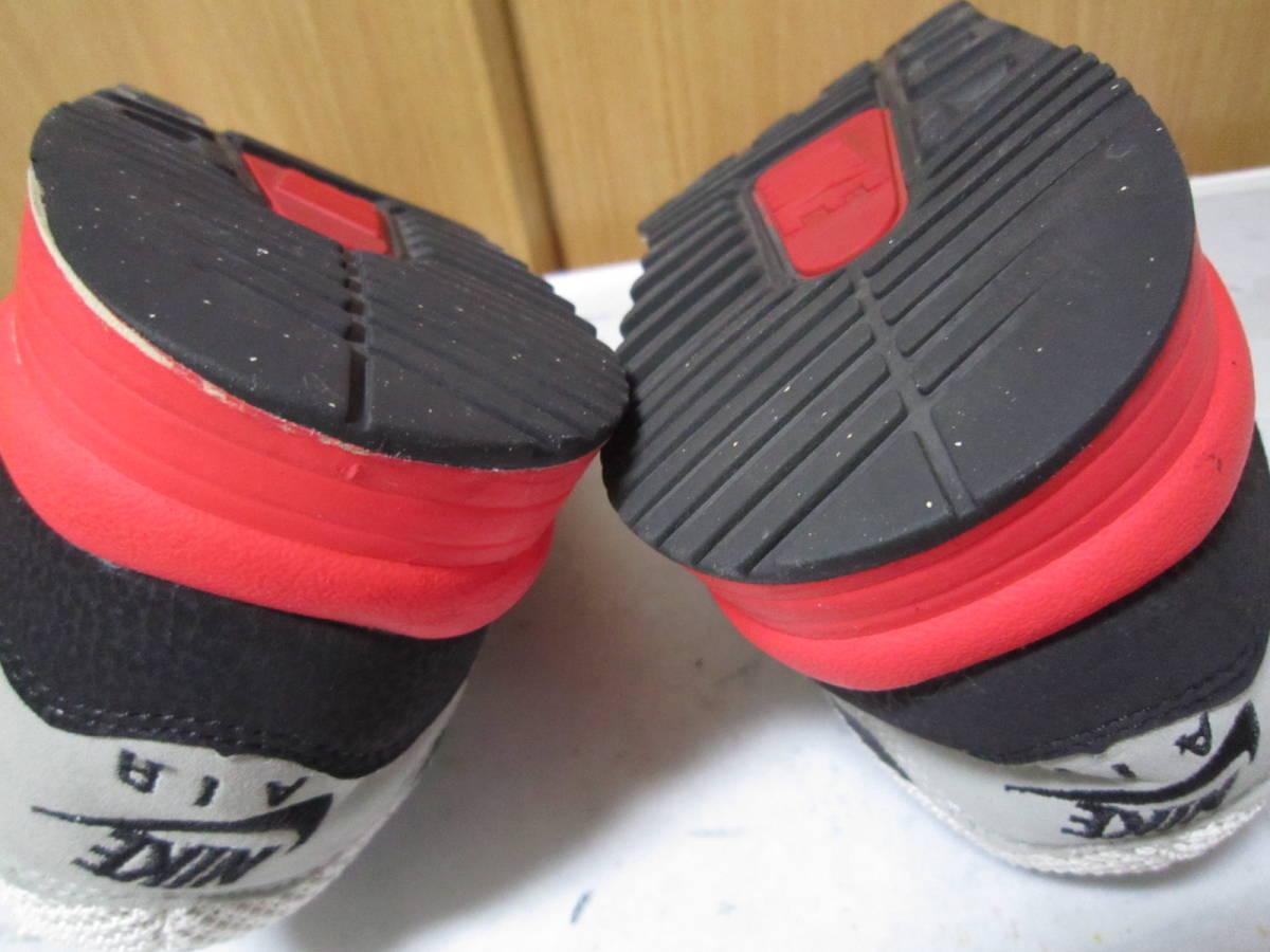 ナイキ エアマックス ライト C 1.0(631758-006)灰黒白赤 28cm US10    Nike Air Max Light C1.0  2013年製  ai1903d_画像5