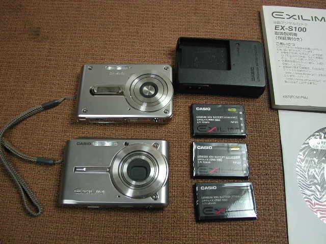 CASIO デジタルカメラ EXILIM CARD EX-S600/EX-S100スパークルーシルバー2台 動作品_画像5