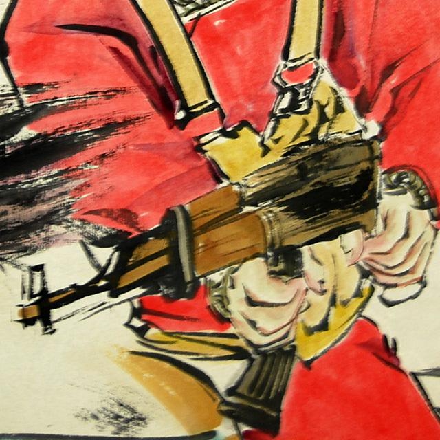 L21810 中国 落款あり 継貞「女性図」美人画 人物画 掛軸 紙本 水彩画 真筆 女性画 中国美術_画像7
