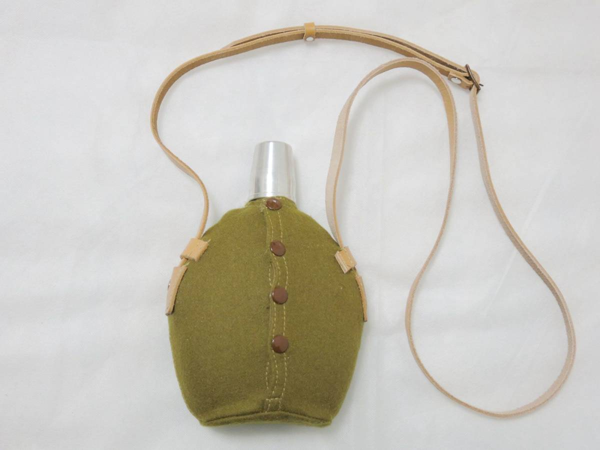 日本陸軍将校用水筒(複製品) 日本軍士官帝国陸軍_画像1