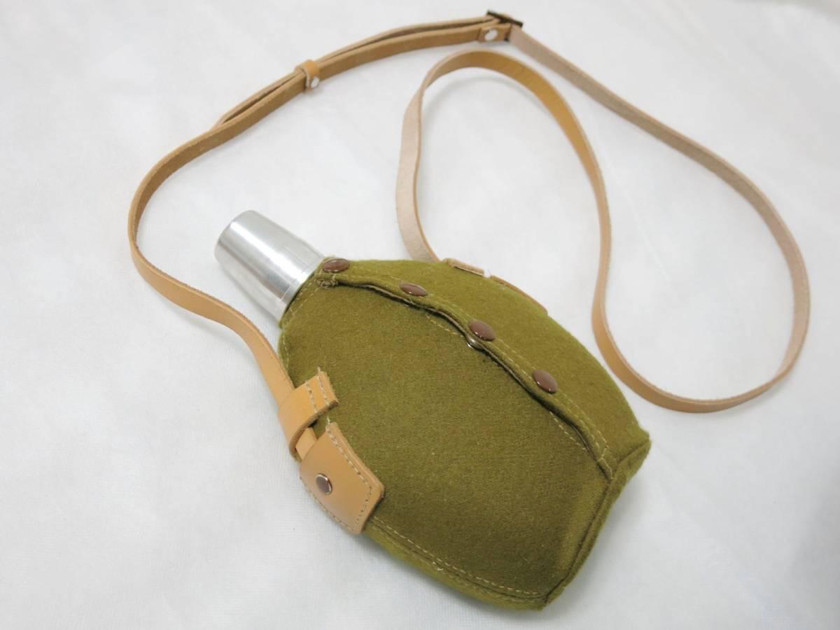 日本陸軍将校用水筒(複製品) 日本軍士官帝国陸軍_画像3
