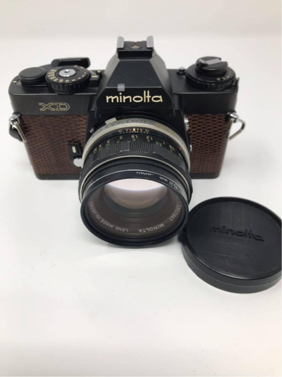 希少! MINOLTA XD ミノルタXD フィルム カメラ 1:1.7f=55mm 2367947 トカゲ革