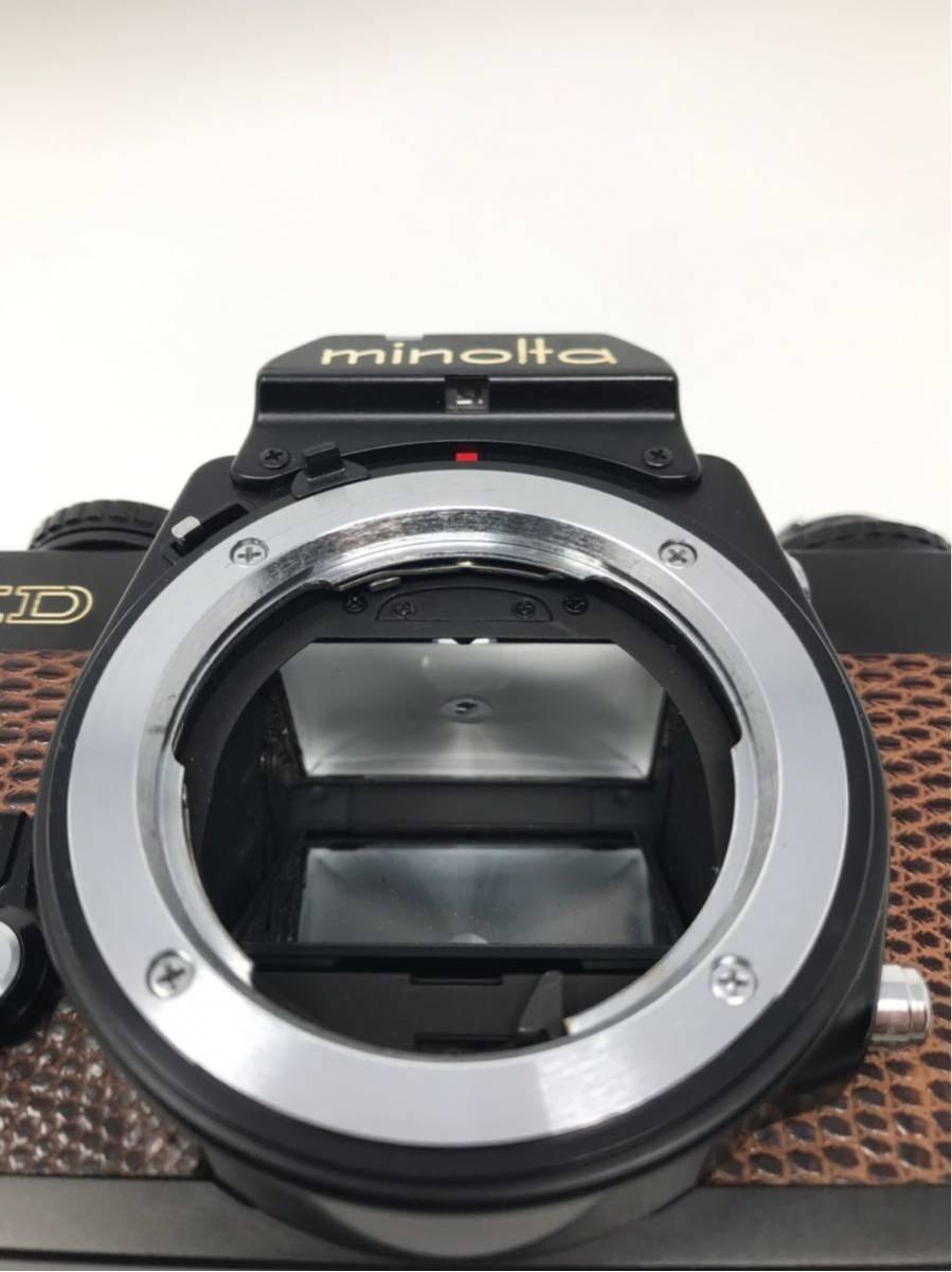 希少! MINOLTA XD ミノルタXD フィルム カメラ 1:1.7f=55mm 2367947 トカゲ革_画像6