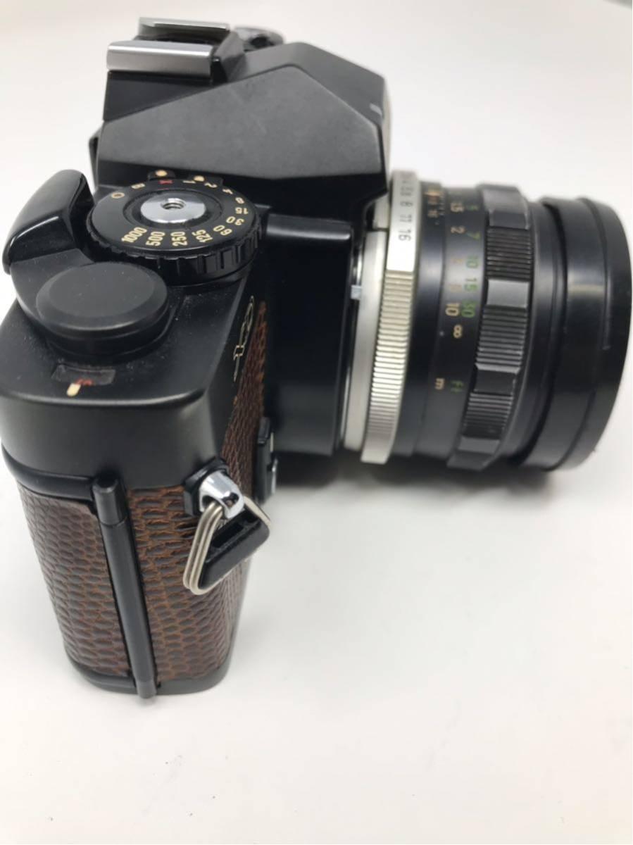 希少! MINOLTA XD ミノルタXD フィルム カメラ 1:1.7f=55mm 2367947 トカゲ革_画像8