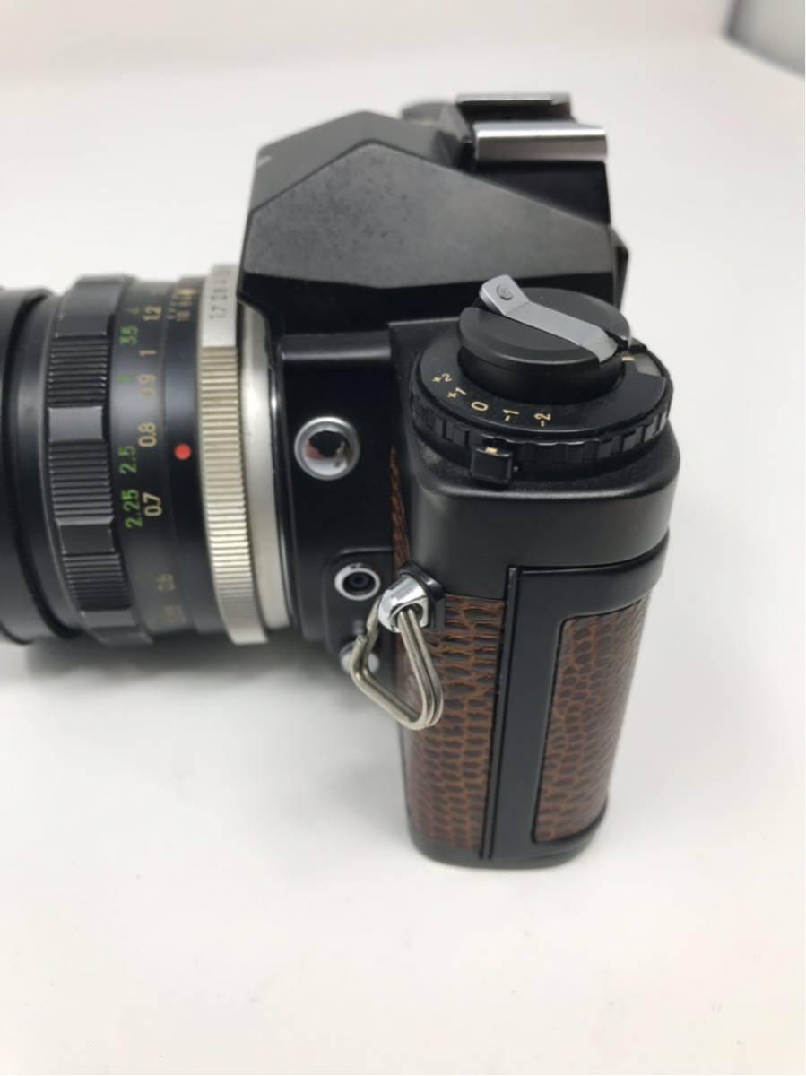 希少! MINOLTA XD ミノルタXD フィルム カメラ 1:1.7f=55mm 2367947 トカゲ革_画像9