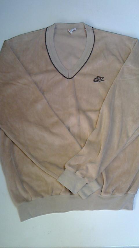 NIKE ナイキ ベロアシャツ キャラメル オレンジスウォッシュ USA製 Mサイズ ビンテージ USED 古着_画像2