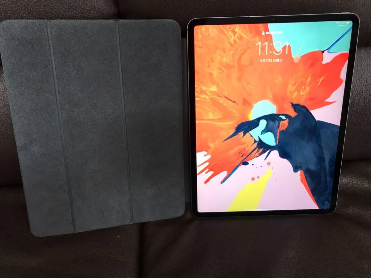 新品同様 SIMフリー iPad Pro 12.9インチ Wi-Fi Cellular 1TB 国内アポスト購入 第3世代 スペースグレイ MTJP2J/A 純正カバー フィルム付_画像4