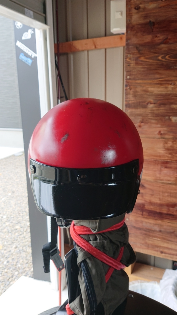 スキャロップ ジェット ヘルメット ハーレー エイジング塗装 _画像3