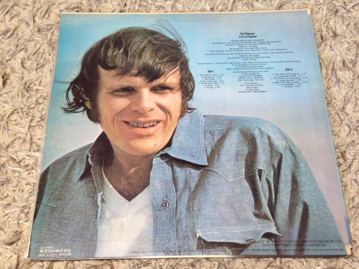 Del Shannon Live In England (日本盤)_画像2