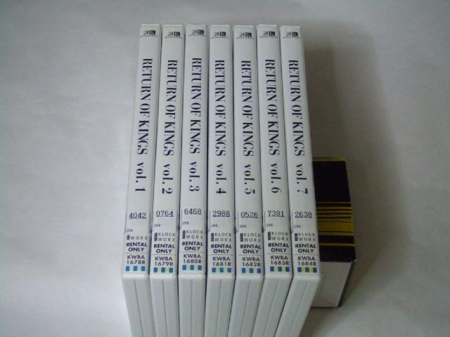DVD K RETURN OF KINGS 全7巻 レンタル品_画像1