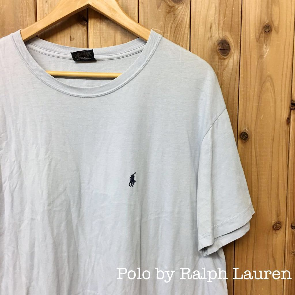 *USA古着*〈Polo by Ralph Lauren〉ラルフローレン ◇* メンズ XL / 半袖 Tシャツ トップス * ロゴ刺繍 ワンポイント 無地☆シンプル_画像1