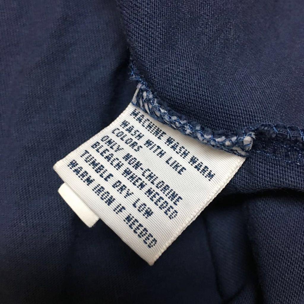 *USA古着*〈POLO by Ralph Lauren〉ポロ ラルフローレン ◇* メンズ S / ネイビー 半袖 Tシャツ トップス ロゴ刺繍 ワンポイント Vネック_画像7