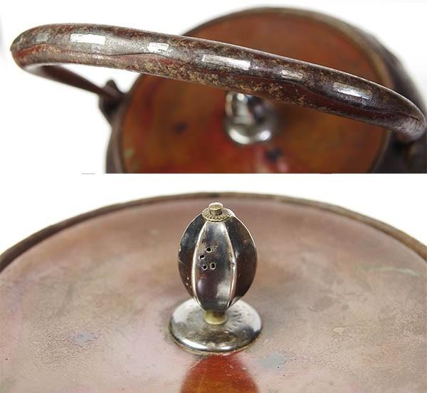 【takekore】龍寿堂浄寿造 銀摘持手象嵌鉄瓶 c20_画像3