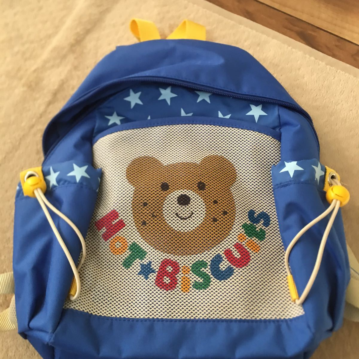 ミキハウス リュックサック 男の子 B級品 ホット ビスケッツ クマ 子供用 鞄 リュック_画像1