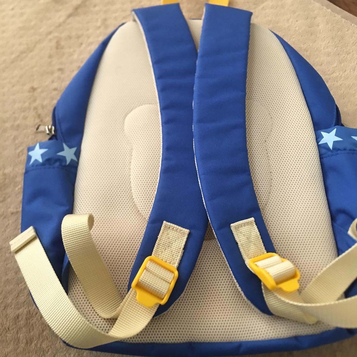 ミキハウス リュックサック 男の子 B級品 ホット ビスケッツ クマ 子供用 鞄 リュック_画像7