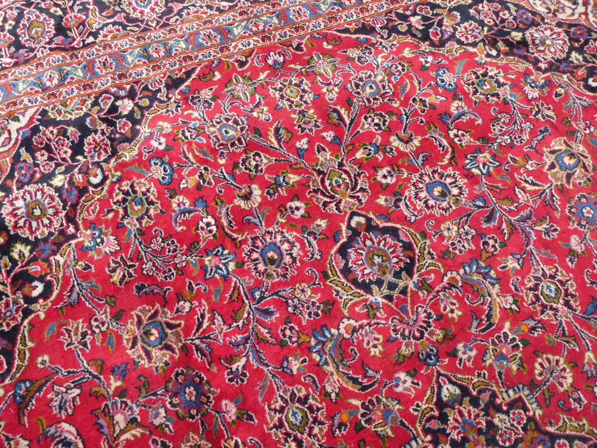 ◆ペルシャ絨毯◆大判◆イラン産◆手織り◆378×290cm ギャッベ アンティーク家具 骨董 古美術 ビンテージ 古道具 マット カーペット_画像3