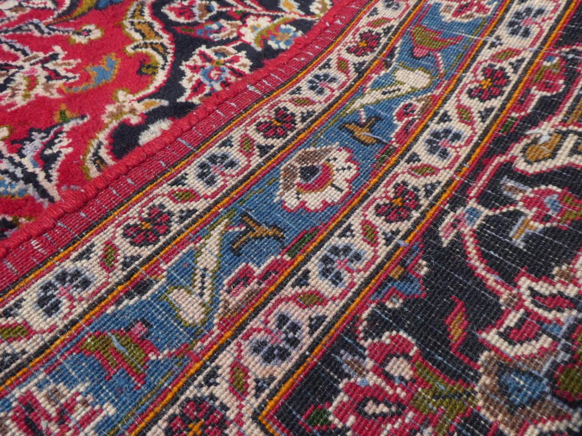 ◆ペルシャ絨毯◆大判◆イラン産◆手織り◆378×290cm ギャッベ アンティーク家具 骨董 古美術 ビンテージ 古道具 マット カーペット_画像7
